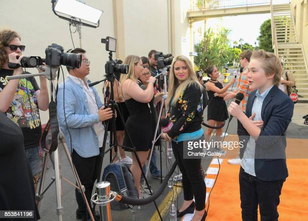Actor Casey Simpson at Nickelodeon's 'Escape From Mr Lemoncello's Library' premiere event at Paramount Studios on September 25 2017 in Hollywood...