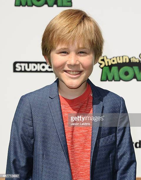 Actor Casey Simpson attends a screening of Lionsgate's 'Shaun The Sheep Movie' at Regency Village Theatre on August 1 2015 in Westwood California