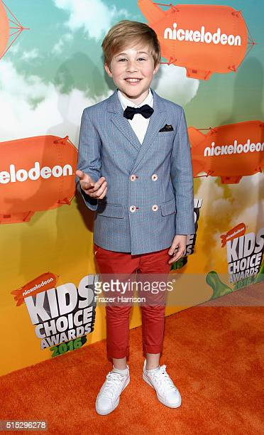 Actor Casey Simpson attends Nickelodeon's 2016 Kids' Choice Awards at The Forum on March 12 2016 in Inglewood California