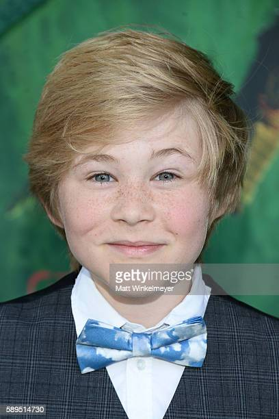 Actor Casey Simpson attends the premiere of Focus Features' 'Kubo and the Two Strings' at AMC Universal City Walk on August 14 2016 in Universal City...