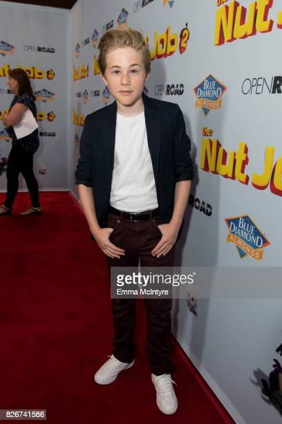 Actor Casey Simpson attends the premiere of Open Road Films' 'The Nut Job 2 Nutty by Nature' at Regal Cinemas LA Live on August 5 2017 in Los Angeles...