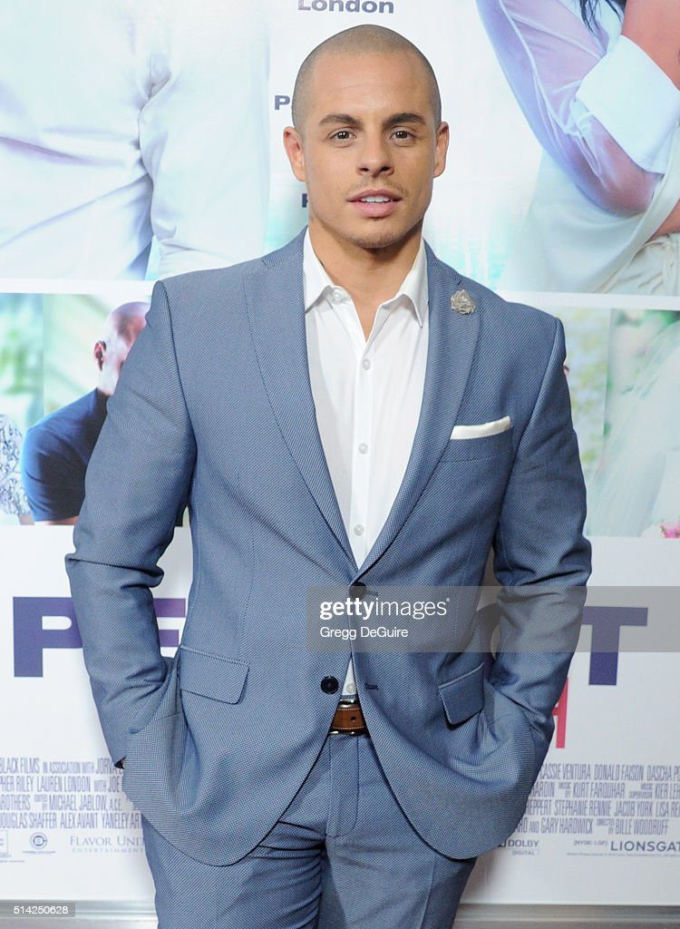 Actor Casper Smart arrives at the premiere of Lionsgate's 'The Perfect Match' at ArcLight Hollywood on March 7, 2016 in Hollywood, California.