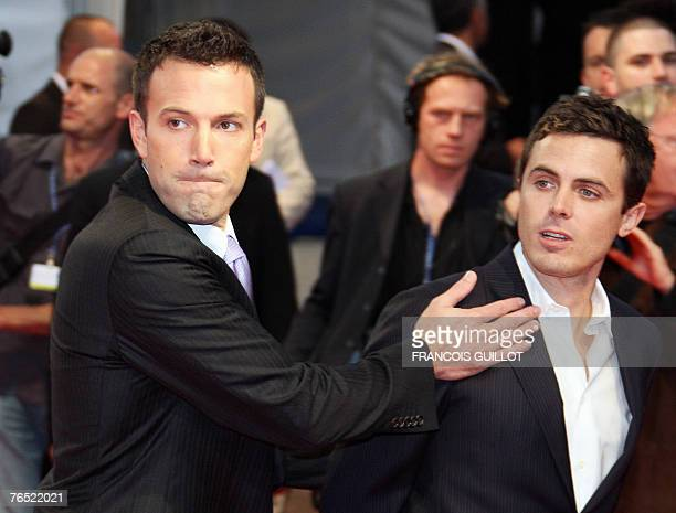 US actor Cassey Affleck and US film director Ben Affleck arrive for the screening of 'Gone baby gone' at the 33rd US film festival in Deauville on...