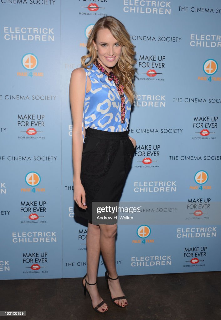 Actor Cassidy Gard attends The Cinema Society & Make Up For Ever screening of 'Electrick Children' at IFC Center on March 4, 2013 in New York City.
