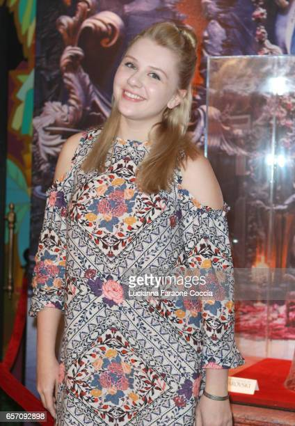 Actor Cassie Brennan attends Red Walk special screening of Disney's 'Beauty And The Beast' at El Capitan Theatre on March 23 2017 in Los Angeles...