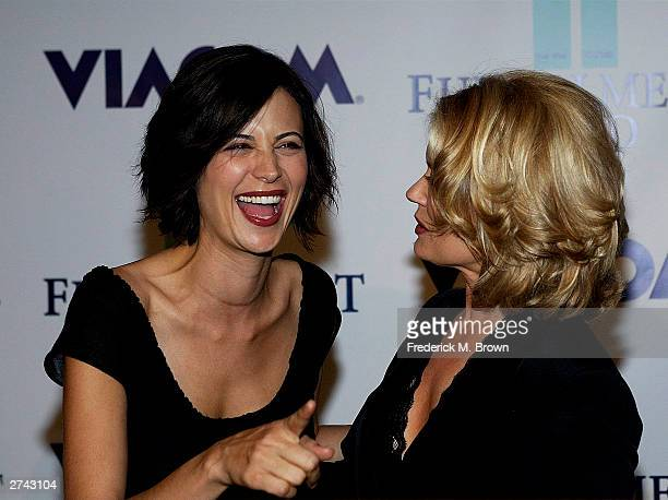Actor Catherine Bell and television host Mary Hart attend the Annual Fulfillment Fund's Stars 2003 benefit gala at the Beverly Hilton Hotel on...