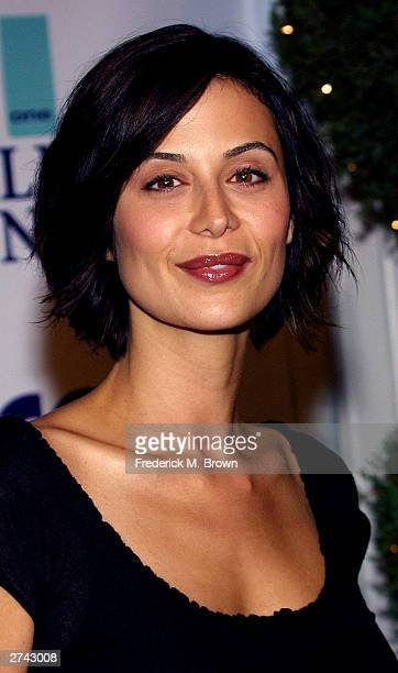 Actor Catherine Bell attends the Annual Fulfillment Fund's Stars 2003 benefit gala at the Beverly Hilton Hotel on November 18 2003 in Beverly Hills...