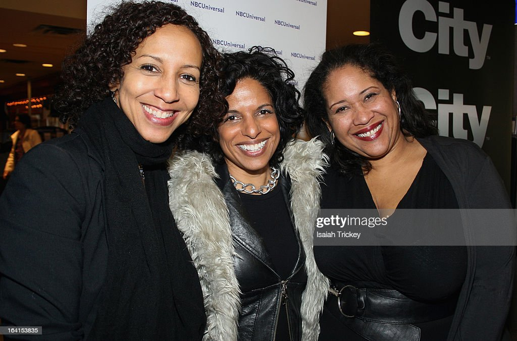 Actor Catherine Bruhier, Director Sharon Lewis and Actor Kim Roberts of the film 'In Between Life' attend the ReelWorld Film Festival press conference at Famous Players Canada Square on March 20, 2013 in Toronto, Canada.
