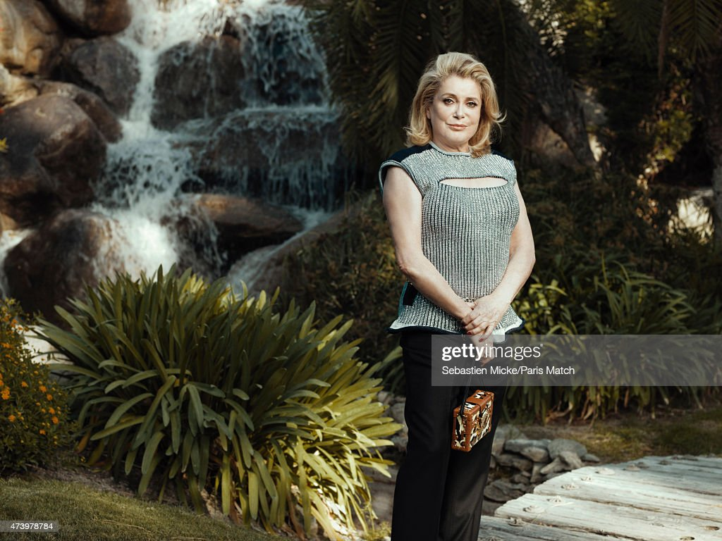 Actor <a gi-track='captionPersonalityLinkClicked' href=/galleries/search?phrase=Catherine+Deneuve&family=editorial&specificpeople=123833 ng-click='$event.stopPropagation()'>Catherine Deneuve</a> is photographed for Paris Match on May 6, 2015 in Palm Springs, California.