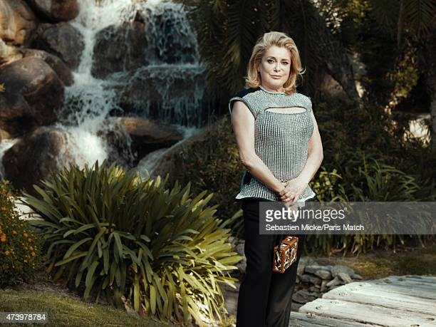 Actor Catherine Deneuve is photographed for Paris Match on May 6 2015 in Palm Springs California