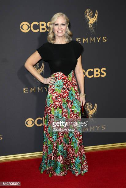Actor Catherine Dyer attends the 69th Annual Primetime Emmy Awards Arrivals at Microsoft Theater on September 17 2017 in Los Angeles California