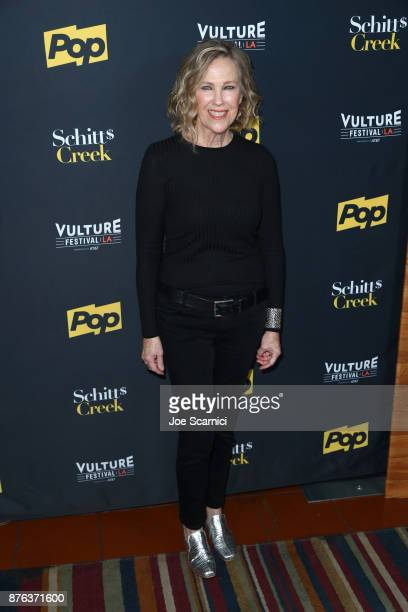 Actor Catherine O'Hara attends the 'Schitt's Creek' panel part of Vulture Festival LA presented by ATT at Hollywood Roosevelt Hotel on November 19...