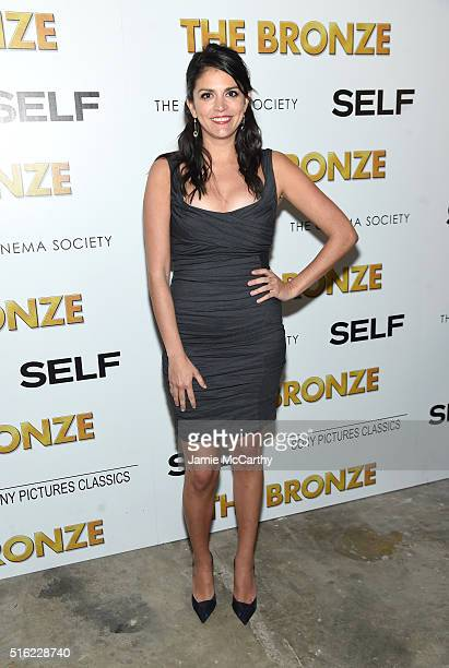 Actor Cecily Strong attends a screening of Sony Pictures Classics' 'The Bronze' hosted by Cinema Society SELF at Metrograph on March 17 2016 in New...