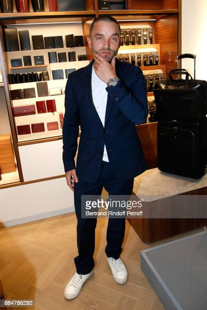 Actor Cedric Kahn attends the Montblanc ChampsElysees Flagship Reopening on May 18 2017 in Paris France