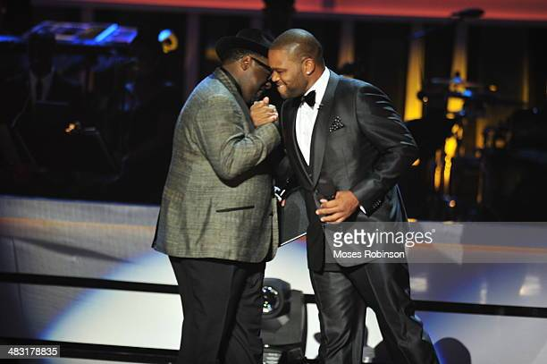 Actor Cedric The Entertainer and actor Anthony Anderson attend UNCF's 33rd annual An Evening With The Stars at Boisfeuillet Jones Atlanta Civic...