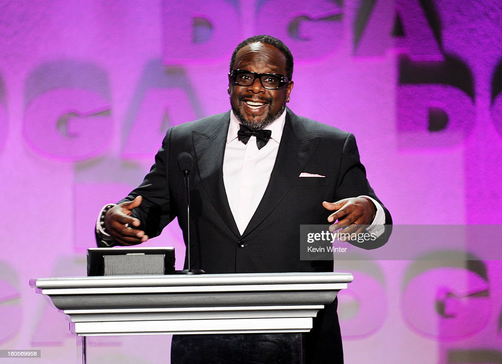 Actor Cedric the Entertainer speaks onstage during the 65th Annual Directors Guild Of America Awards at Ray Dolby Ballroom at Hollywood & Highland on February 2, 2013 in Los Angeles, California.