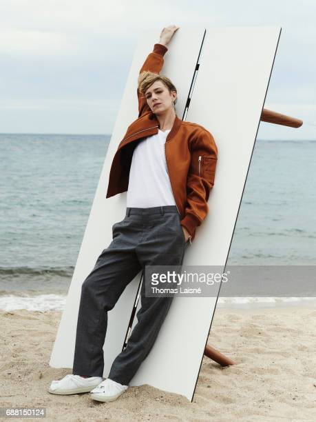 Actor Celine Sallette is photographed on May 22 2017 in Cannes at Majestic Beach France