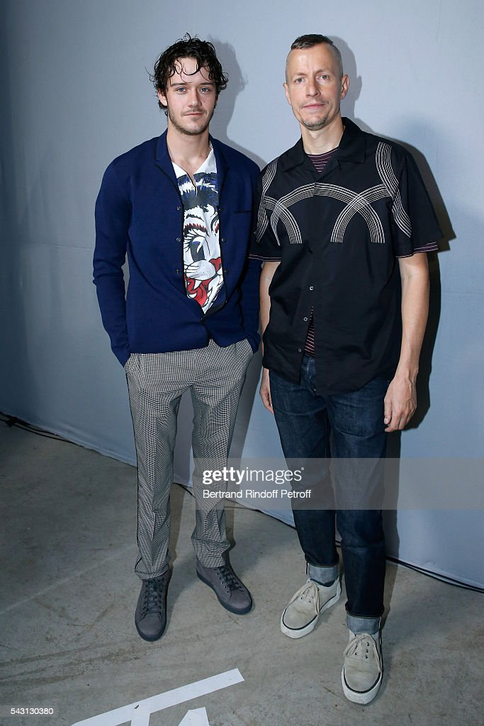 Actor Cesar Domboy and Stylist <a gi-track='captionPersonalityLinkClicked' href=/galleries/search?phrase=Lucas+Ossendrijver&family=editorial&specificpeople=5531949 ng-click='$event.stopPropagation()'>Lucas Ossendrijver</a> attend the Lanvin Menswear Spring/Summer 2017 show as part of Paris Fashion Week on June 26, 2016 in Paris, France.