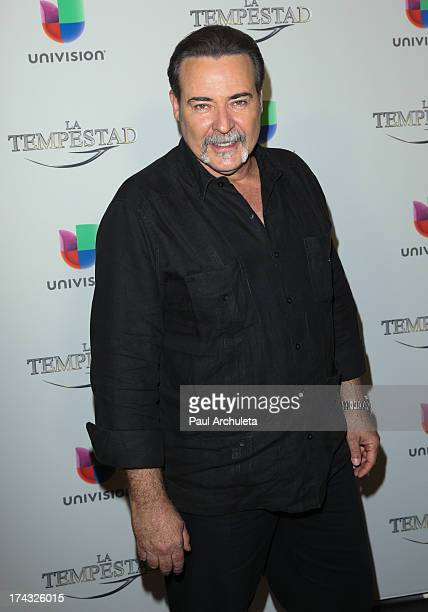 Actor Cesar Evora attends the premiere of Univision's new Telenovela 'La Tempestad' at Universal CityWalk on July 23 2013 in Universal City California