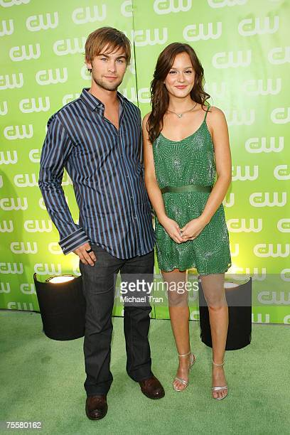 Actor Chace Crawford and Actress Leighton Meester arrives to The CW Summer Tour Party at the Pacific Design Center on July 20 2007 in West Hollywood...