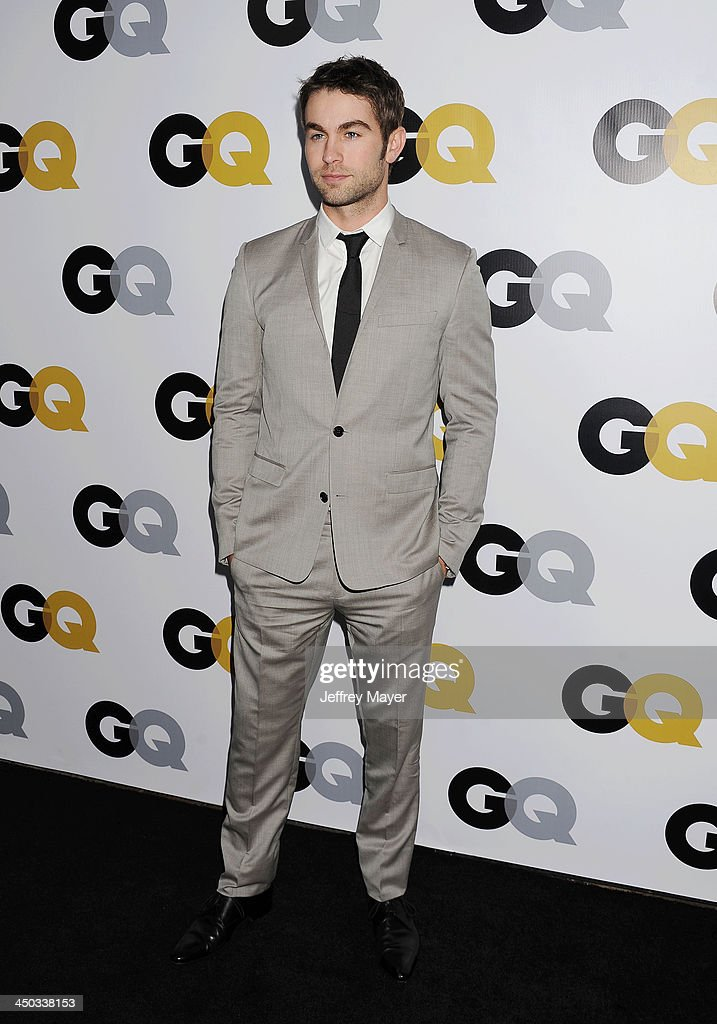 Actor <a gi-track='captionPersonalityLinkClicked' href=/galleries/search?phrase=Chace+Crawford&family=editorial&specificpeople=4238517 ng-click='$event.stopPropagation()'>Chace Crawford</a> arrives at the 2013 GQ Men Of The Year Party at The Ebell of Los Angeles on November 12, 2013 in Los Angeles, California.