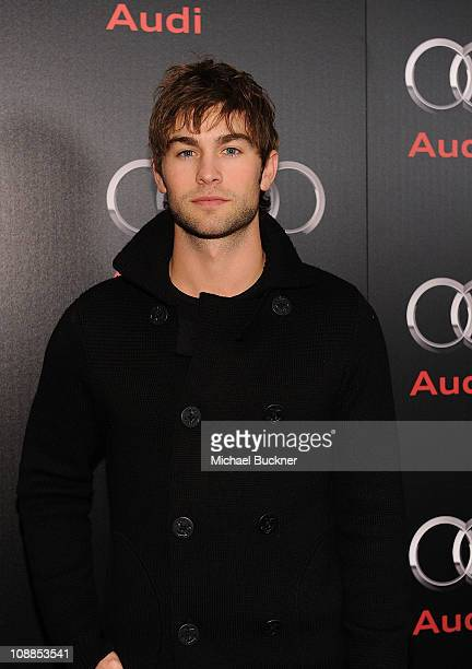 Actor Chace Crawford attends a private dinner hosted by Audi during Super Bowl XLV Weekend at the Audi Forum Dallas on February 5 2011 in Dallas Texas