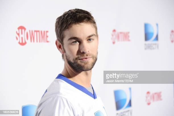 Actor Chace Crawford attends DIRECTV'S Seventh Annual Celebrity Beach Bowl at DTV SuperFan Stadium at Mardi Gras World on February 2 2013 in New...