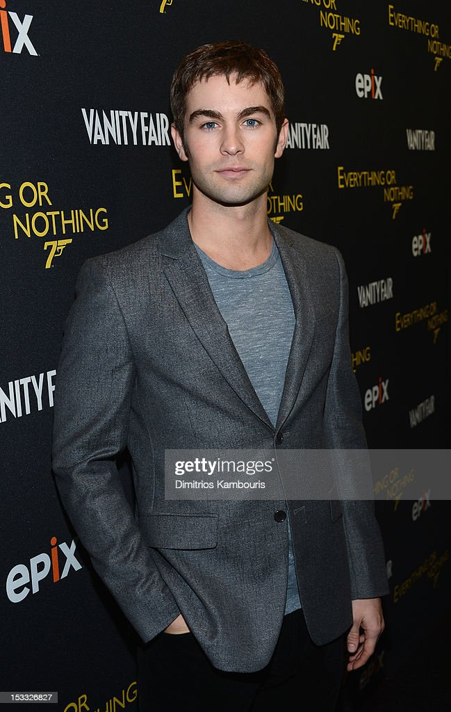 Actor Chace Crawford attends EPIX presents the Premiere screening of 'Everything or Nothing: The Untold Story of 007' at MOMA on October 3, 2012 in New York City.