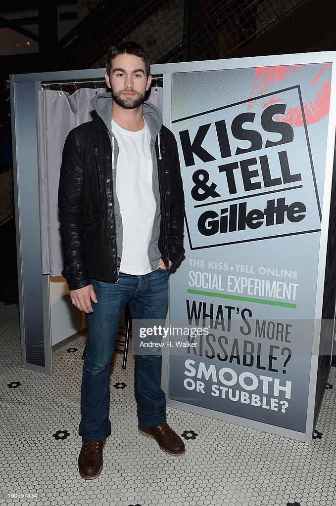 Actor <a gi-track='captionPersonalityLinkClicked' href=/galleries/search?phrase=Chace+Crawford&family=editorial&specificpeople=4238517 ng-click='$event.stopPropagation()'>Chace Crawford</a> attends Gillette's Kiss & Tell Live National Experiment and gets the sparks flying by asking women which kiss is best: a kiss with a stubble or smooth shaven skin on February 2, 2013 in New Orleans, Louisiana.