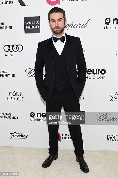 Actor Chace Crawford attends the 23rd Annual Elton John AIDS Foundation Academy Awards Viewing Party on February 22 2015 in Los Angeles California