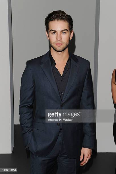 Actor Chace Crawford attends the Calvin Klein Men's Collection Fall 2010 Fashion Show during MercedesBenz Fashion Week at 205 West 39th Street on...