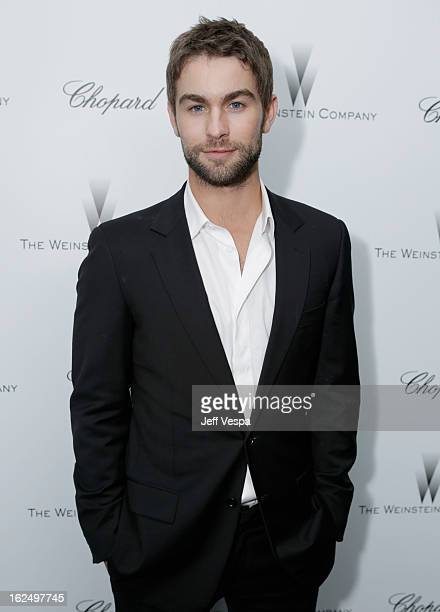 Actor Chace Crawford attends The Weinstein Company Academy Award Party hosted by Chopard at Soho House on February 23 2013 in West Hollywood...