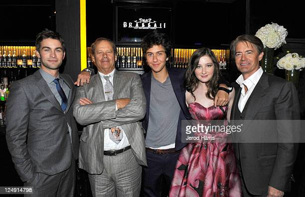 Actor Chace Crawford Director Bruce Beresford actor Nat Wolff actress Marissa O'Donnell and actor Kyle MacLachlan attend 'Peace Love...