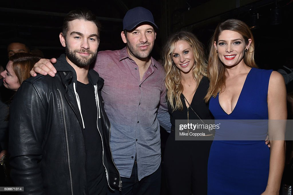 Actor <a gi-track='captionPersonalityLinkClicked' href=/galleries/search?phrase=Chace+Crawford&family=editorial&specificpeople=4238517 ng-click='$event.stopPropagation()'>Chace Crawford</a>, NFL player <a gi-track='captionPersonalityLinkClicked' href=/galleries/search?phrase=Tony+Romo&family=editorial&specificpeople=756503 ng-click='$event.stopPropagation()'>Tony Romo</a>, reporter <a gi-track='captionPersonalityLinkClicked' href=/galleries/search?phrase=Candice+Crawford&family=editorial&specificpeople=5127745 ng-click='$event.stopPropagation()'>Candice Crawford</a> and actress <a gi-track='captionPersonalityLinkClicked' href=/galleries/search?phrase=Ashley+Greene&family=editorial&specificpeople=781552 ng-click='$event.stopPropagation()'>Ashley Greene</a> attend the DirecTV Super Saturday Night co-hosted by Mark Cuban's AXS TV at Pier 70 on February 6, 2016 in San Francisco, California.