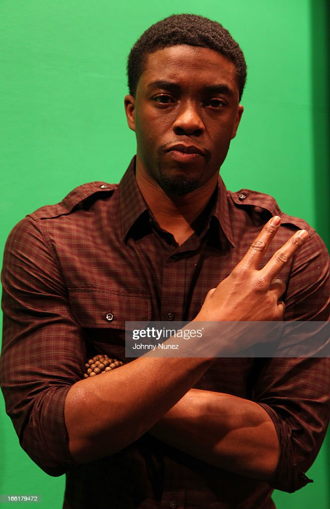 Actor Chad Boseman visits BET's 106 & Park at BET Studios on April 8, 2013, in New York City.