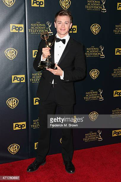 Actor Chad Duell winner of Outstanding Supporting Actor in a Drama Series award for 'General Hospital' poses in the press room during The 42nd Annual...