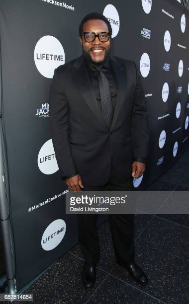 Actor Chad L Coleman attends a fan gala and advance screening for 'Michael Jackson Searching for Neverland' hosted by Lifetime at Avalon on May 23...