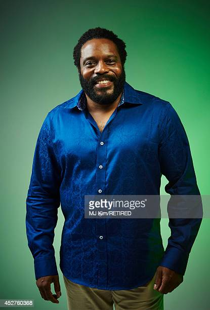Actor Chad L Coleman poses for a portrait at the Getty Images Portrait Studio powered by Samsung Galaxy at ComicCon International 2014 at Hard Rock...