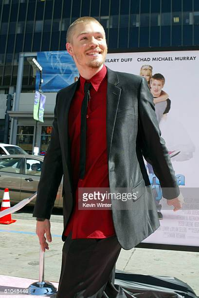 Actor Chad Michael Murray arrives at the premiere of Warner Bros 'A Cinderella Story' on July 10 2004 at the Chinese Theatre in Los Angeles California