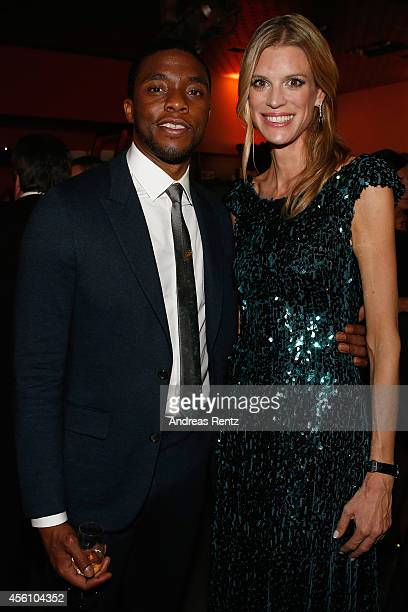Actor Chadwick Boseman and Festival Director Nadja Schildknecht attend the Opening Night After Show Party of the Zurich Film Festival 2014 on...