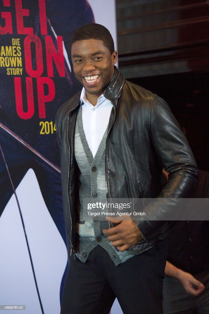 Actor Chadwick Boseman attends a photocall for the film 'Get on Up' at Ritz Carlton on September 17 2014 in Berlin Germany