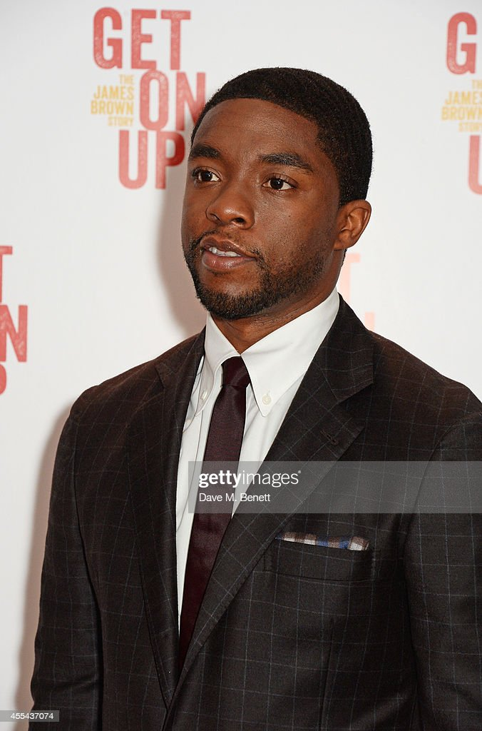 Actor Chadwick Boseman attends a special screening of 'Get On Up' at The Ham Yard Hotel on September 14 2014 in London England