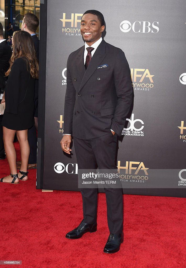 Actor Chadwick Boseman attends the 18th Annual Hollywood Film Awards at The Palladium on November 14 2014 in Hollywood California