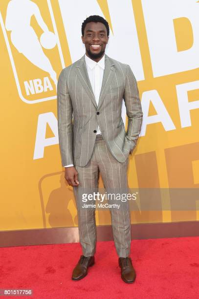 Actor Chadwick Boseman attends the 2017 NBA Awards live on TNT on June 26 2017 in New York New York 27111_003