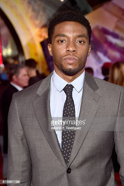 "Actor Chadwick Boseman attends The Los Angeles World Premiere of Marvel Studios' 'Doctor Strange"" in Hollywood CA on Oct 20th 2016"