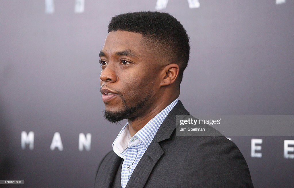 Actor <a gi-track='captionPersonalityLinkClicked' href=/galleries/search?phrase=Chadwick+Boseman&family=editorial&specificpeople=8825549 ng-click='$event.stopPropagation()'>Chadwick Boseman</a> attends the 'Man Of Steel' World Premiere at Alice Tully Hall at Lincoln Center on June 10, 2013 in New York City.