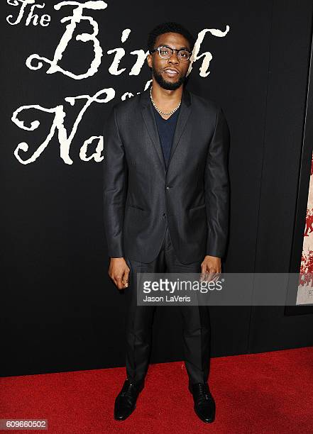 Actor Chadwick Boseman attends the premiere of 'The Birth of a Nation' at ArcLight Cinemas Cinerama Dome on September 21 2016 in Hollywood California