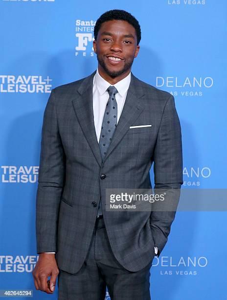 Actor Chadwick Boseman attends the Virtuosos Award at the 30th Santa Barbara International Film Festival at the Arlington Theater on February 1 2015...