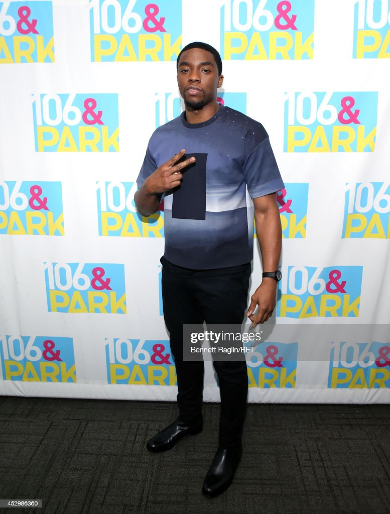Actor Chadwick Boseman visits 106 Park at BET studio on July 30 2014 in New York City