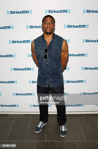 Actor Chadwick Boseman visits SiriusXM Studios on July 28 2014 in New York City